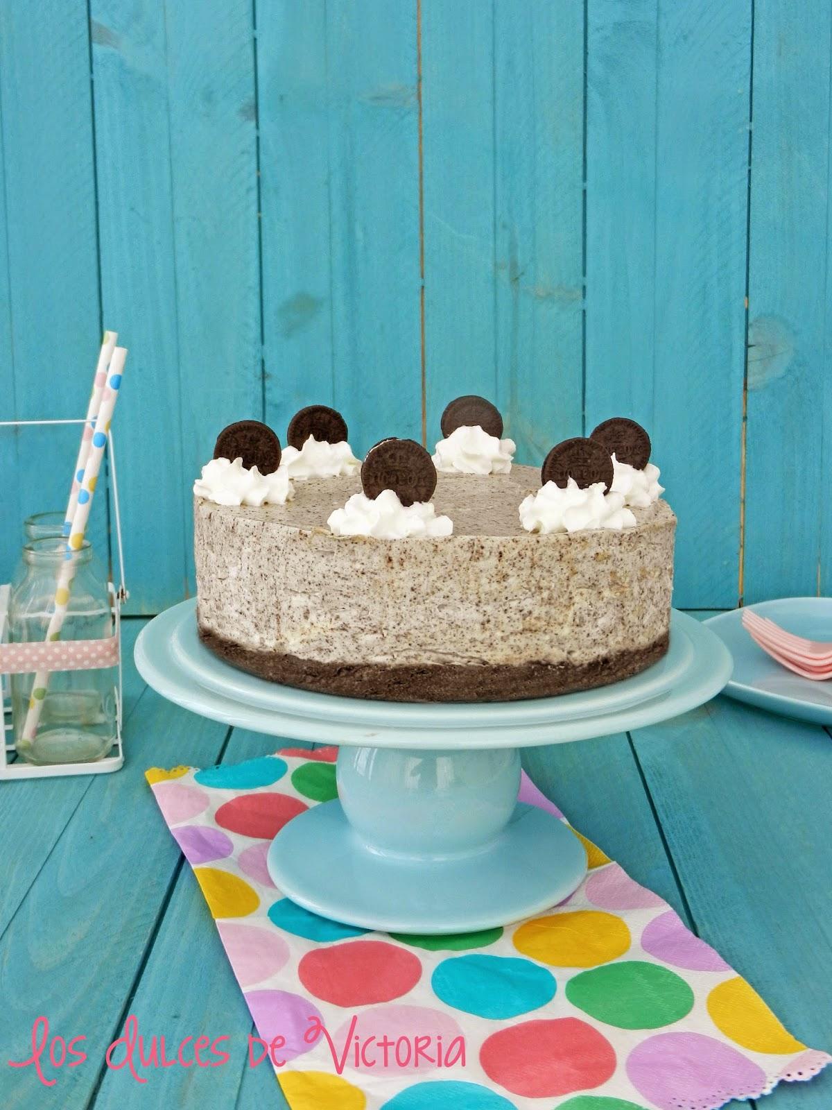 Mejor receta Oreo Cheesecake- Tarta Oreo {sin horno}