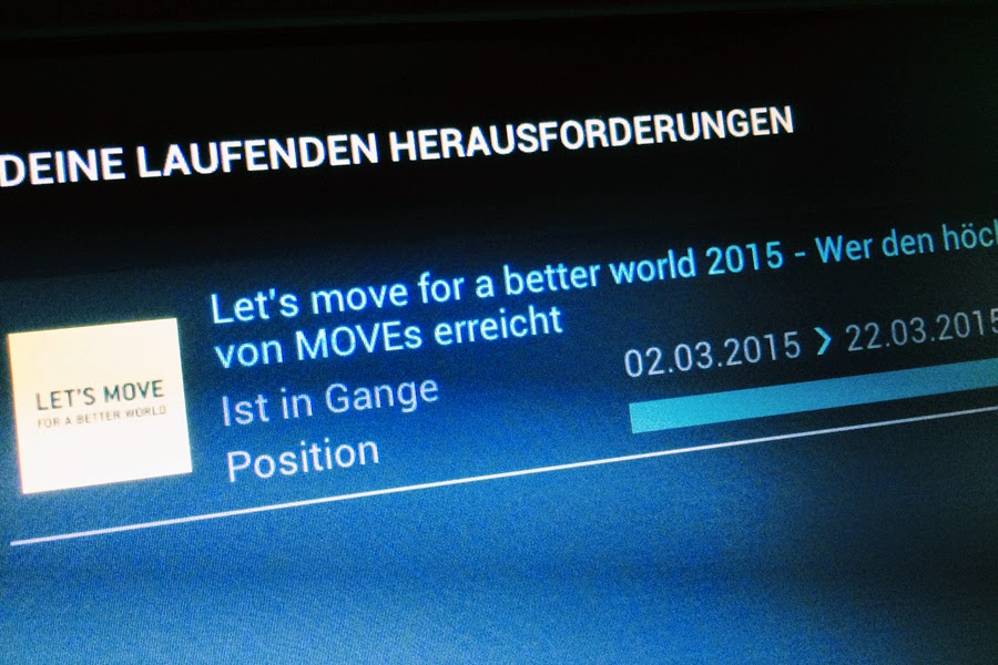 LET'S MOVE FOR A BETTER WORLD challenge technogym