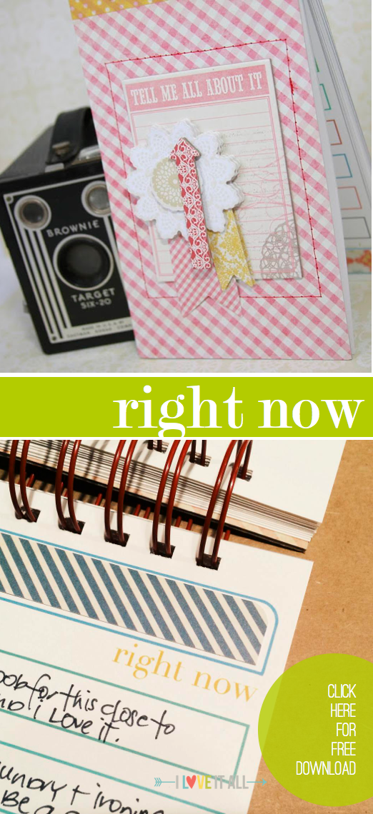 #scrapbooking #rightnow #currents #currently #minialbum #download #printable #iloveitall