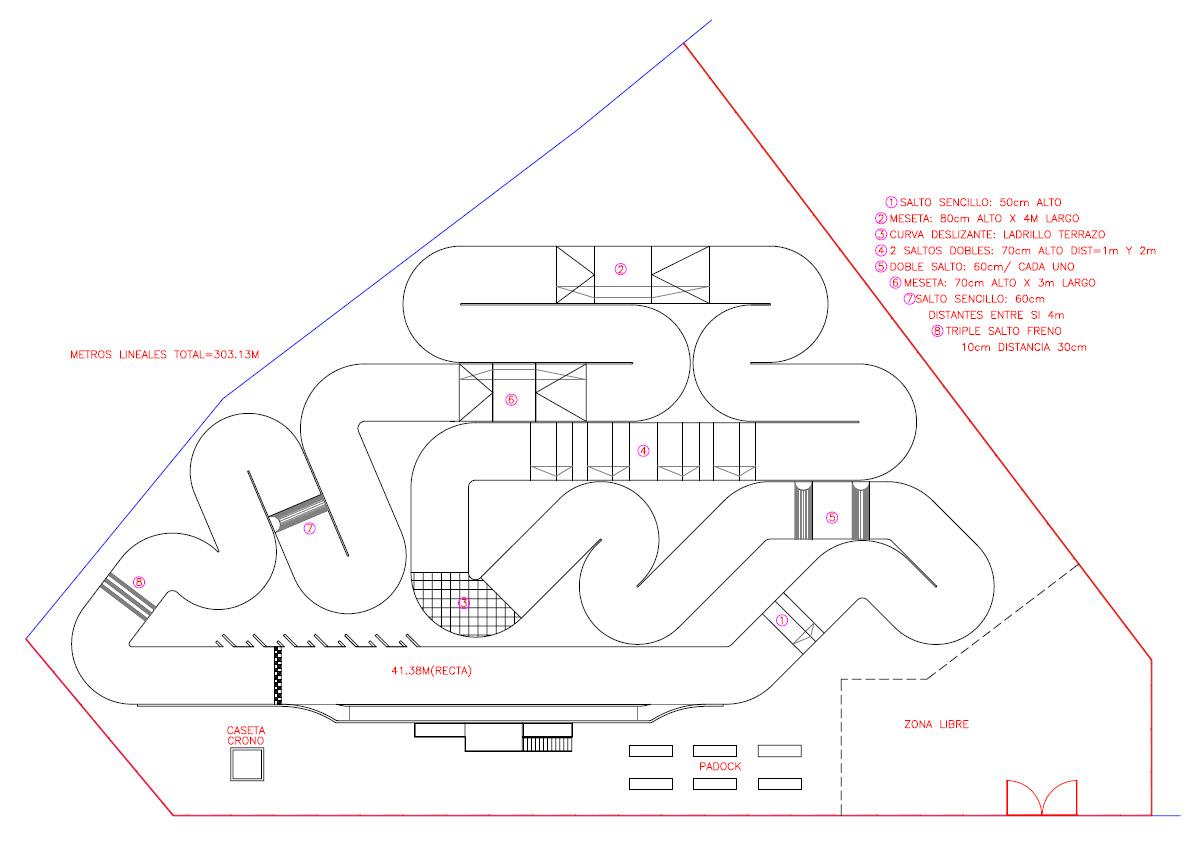 Circuito Rc : Plano del circuito ~ club rc la roda