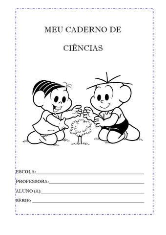 capas de caderno de ciencias
