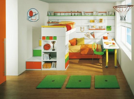 boiserie sunny kids bedroom