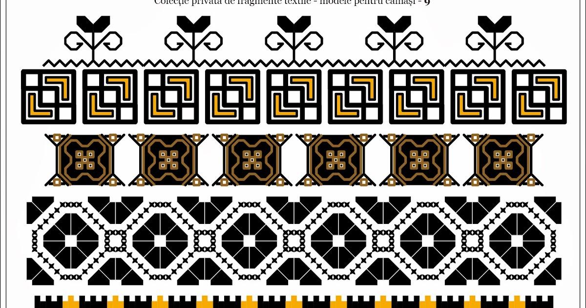 Semne Cusute Romanian Traditional Motifs Oltenia Dolj Romanati