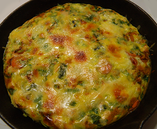 Frittata in Cast Iron Pan After Broiling