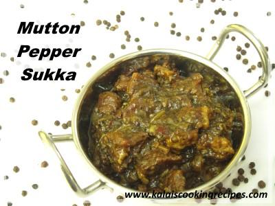 mutton milagu pepper sukka