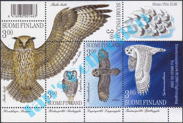 ian s collection owl stamps of finland