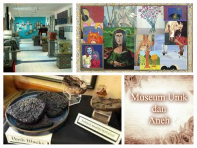 Gambar museum unik dan aneh di dunia, Museum of bad art, international toilet museum, dan museum of burnt food