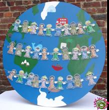 DIY - Pochons de dragées Enfants du monde
