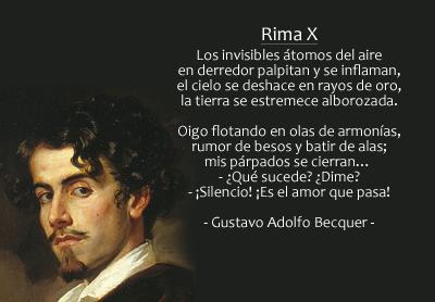 Gustavo Adolfo Becquer Rima X