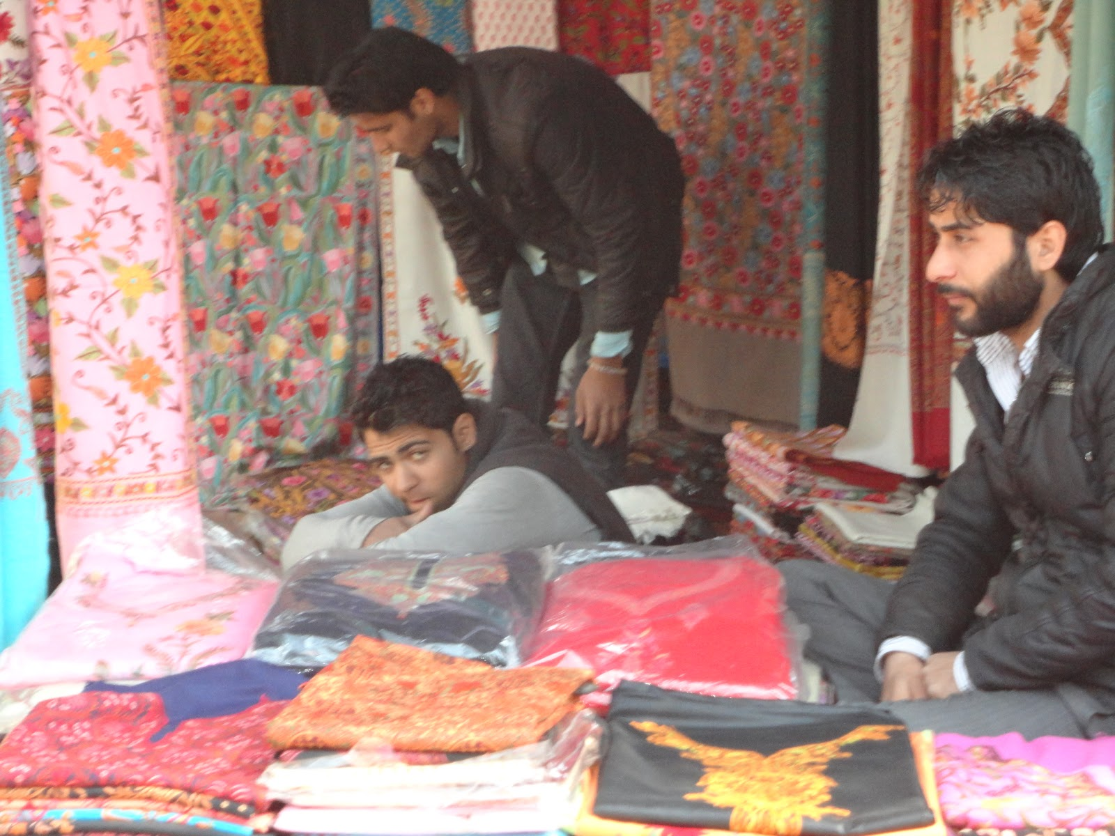 Fabrics From Kashmir at Surajkund Mela,India