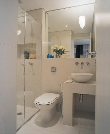 Gostosa Reforma Espelho do Banheiro -> Banheiro Pequeno Simples Branco