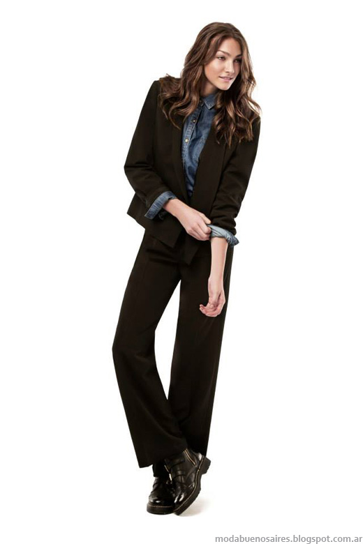 Pantalones de vestir Portsaid otoño invierno 2014.