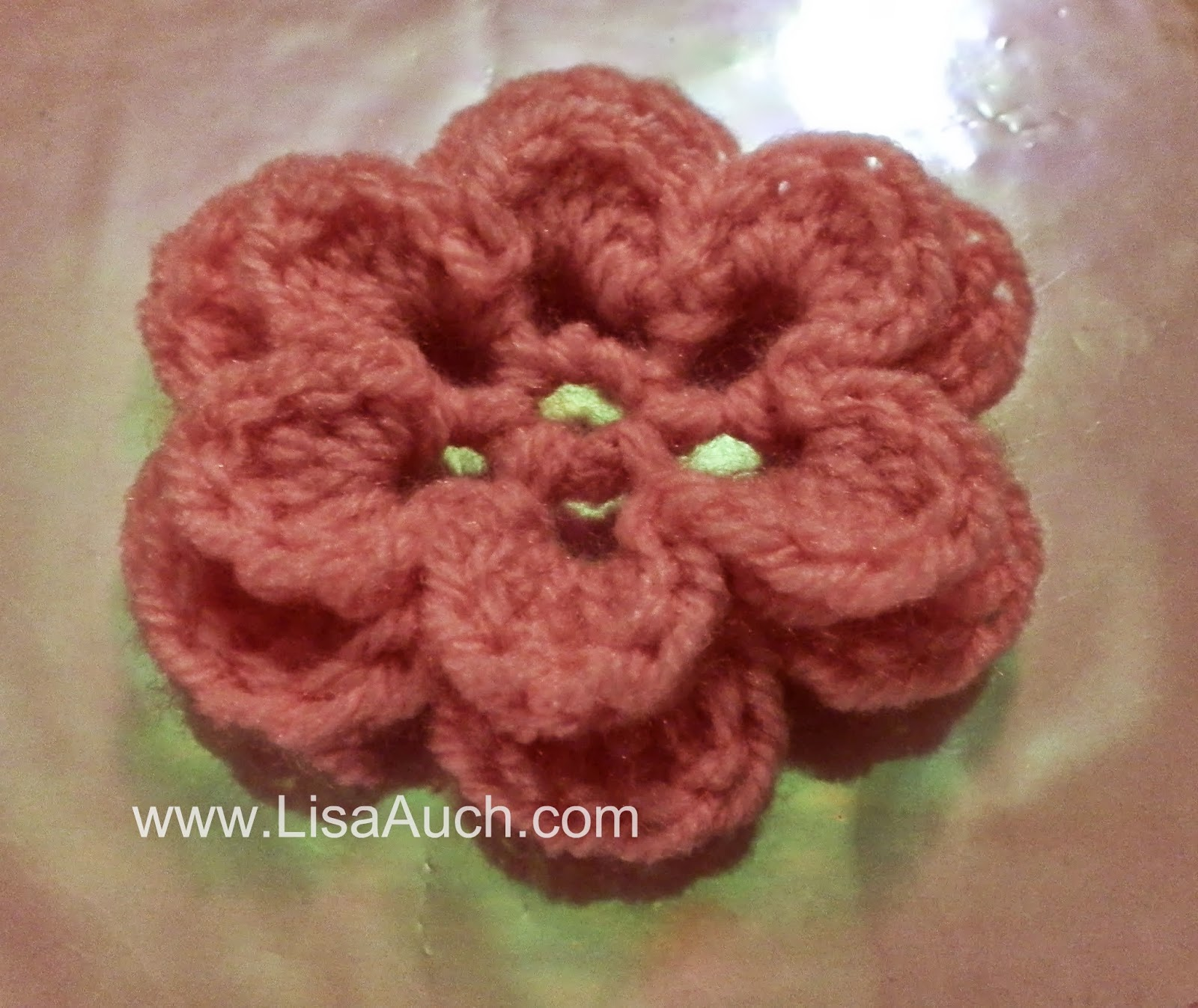 Simple Crochet Flower Free Pattern : Free Crochet Patterns and Designs by LisaAuch: Crochet ...
