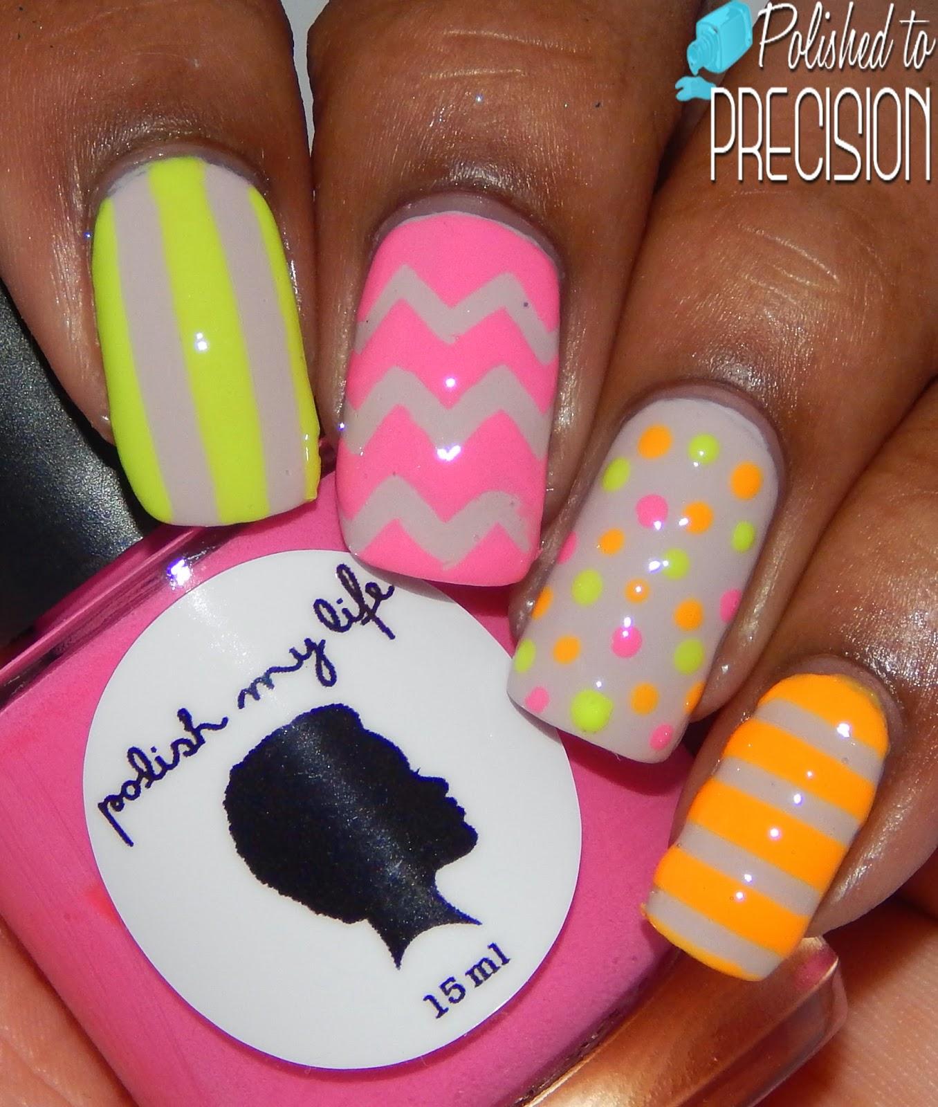 Polish My Life Neon Skittles Mani