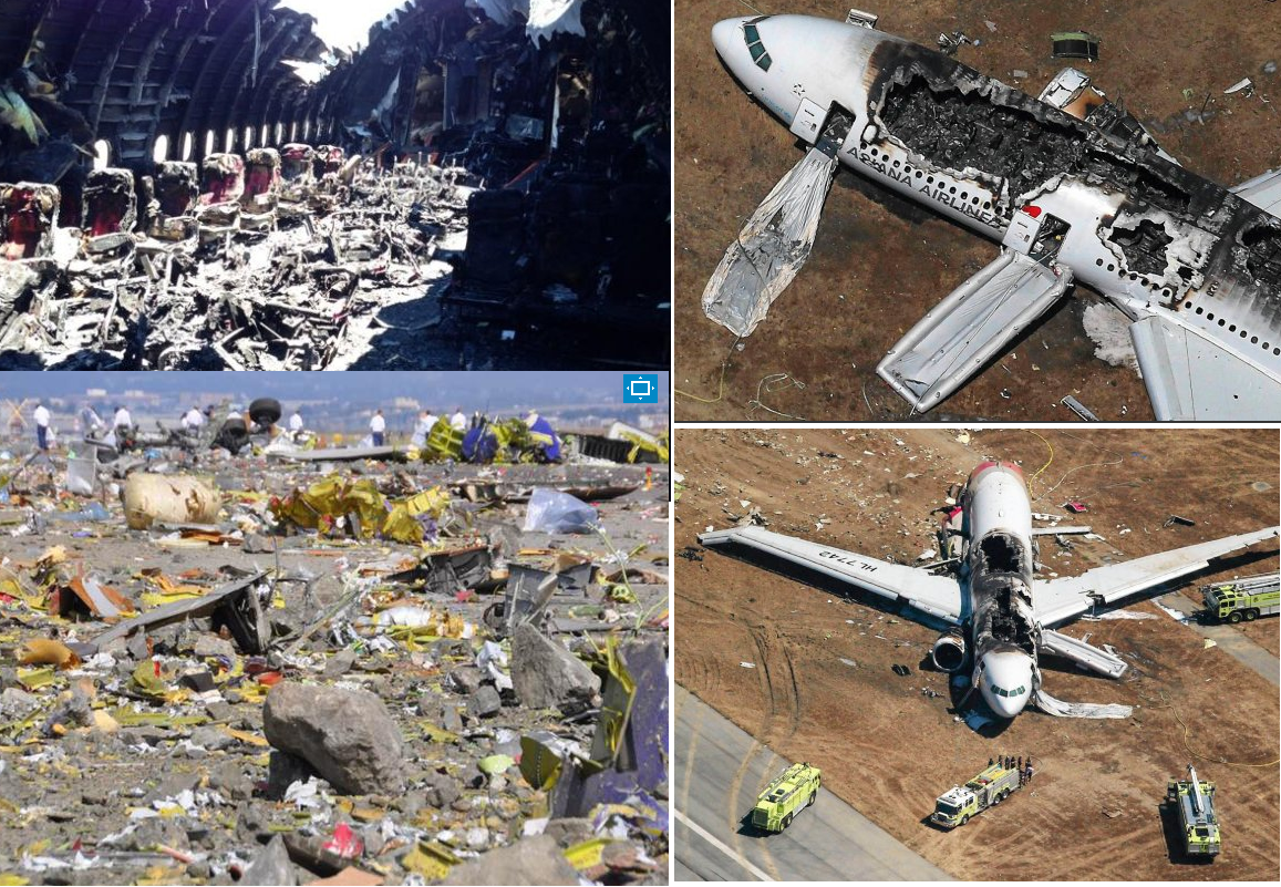 Boeing 777 crash site Asiana Airlines