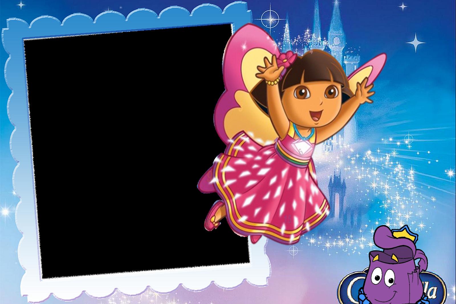 Marcos para fotos digitales de Dora la Exploradora. Bordes para Fotos.