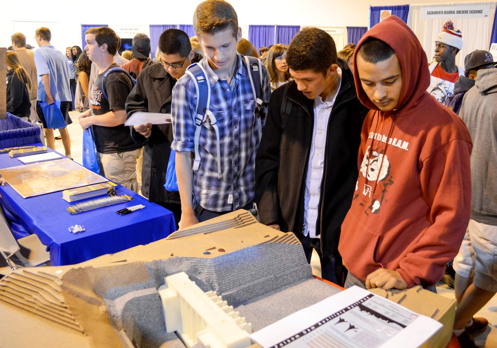 Students consider engineering jobs