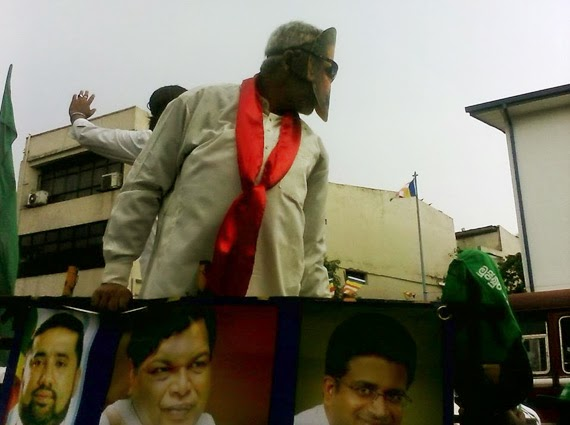 Basil Rajapaksa on UNP May Day rally