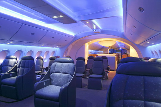 Voyages bergeron comment tre surclass gratuitement en for Interieur avion air canada