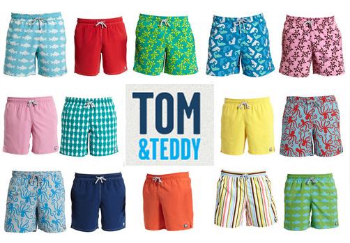 Hello Jack Blog: Tom & Teddy - Matching Swim Trunks