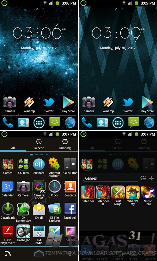 GO Launcher EX Ice Cream Theme 2