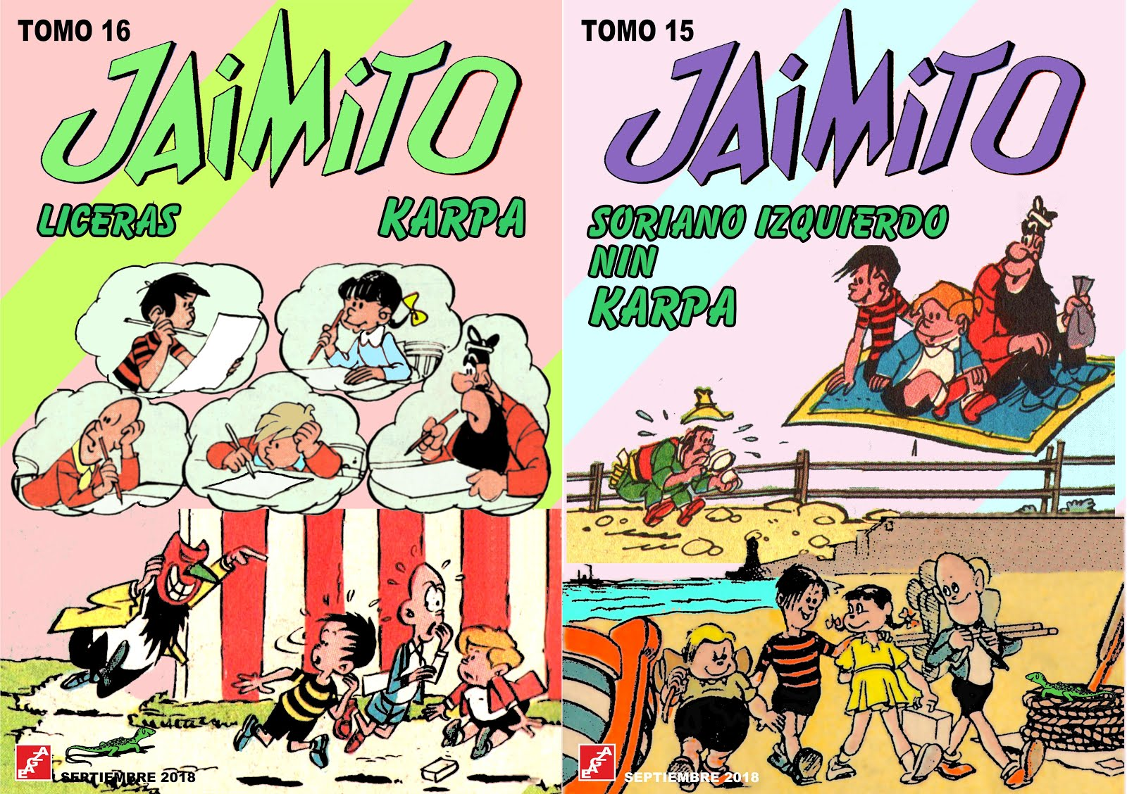 Jaimito - 16 Tomos - Karpa - EAGZA (Aventuras de Jaimito)