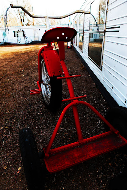 A very large tricycle at the Swetsville Zoo in Fort Collins, Colorado.