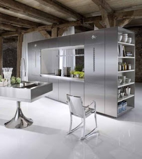 Silver Kitchen Cabinets Design