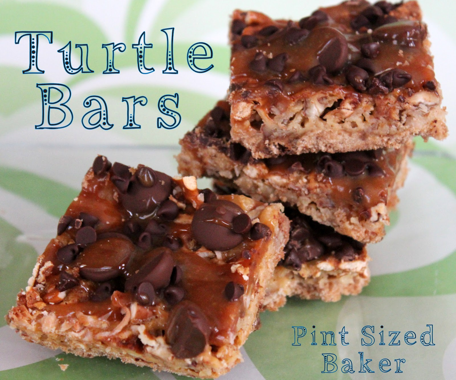 Turtle Shortbread Bars - Pint Sized Baker