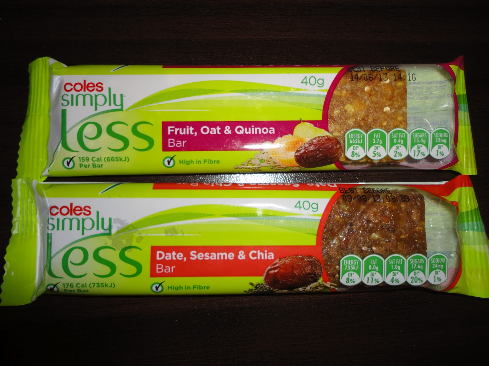 Vegans eat yummy food too product review coles simply for Bar food yummy