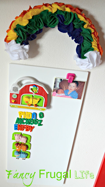 Beautiful The magnetic board is from Ikea