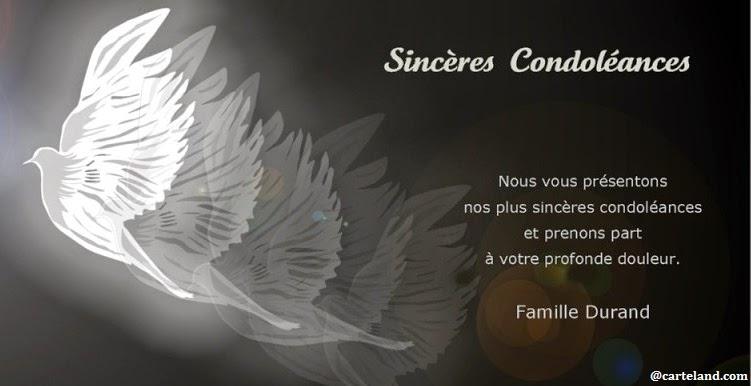 Message De Condoléance Pour un ami ~ Message de condoléances   sms