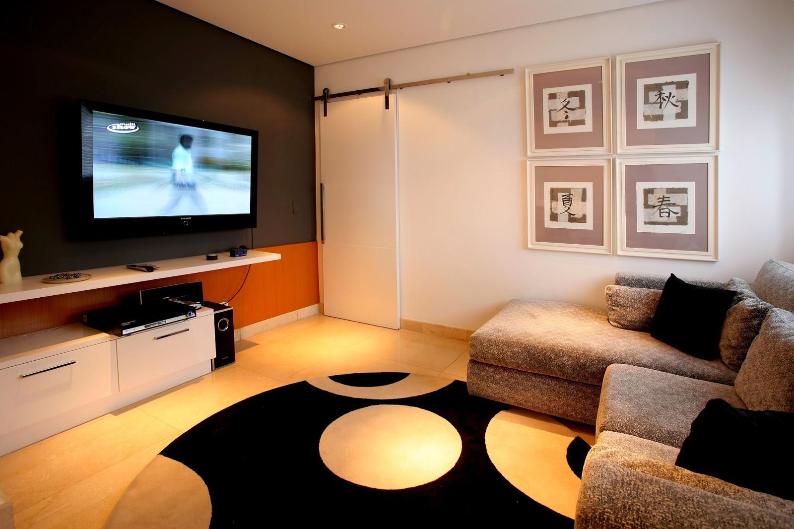 Sala De Tv Estreita ~ Meu Mini Apê Transformando um quarto em sala de tvcinema