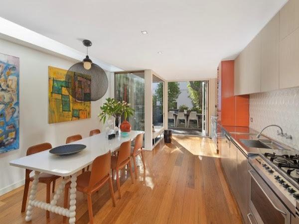 Estrecha decorar tu casa es for Distribucion cocina alargada