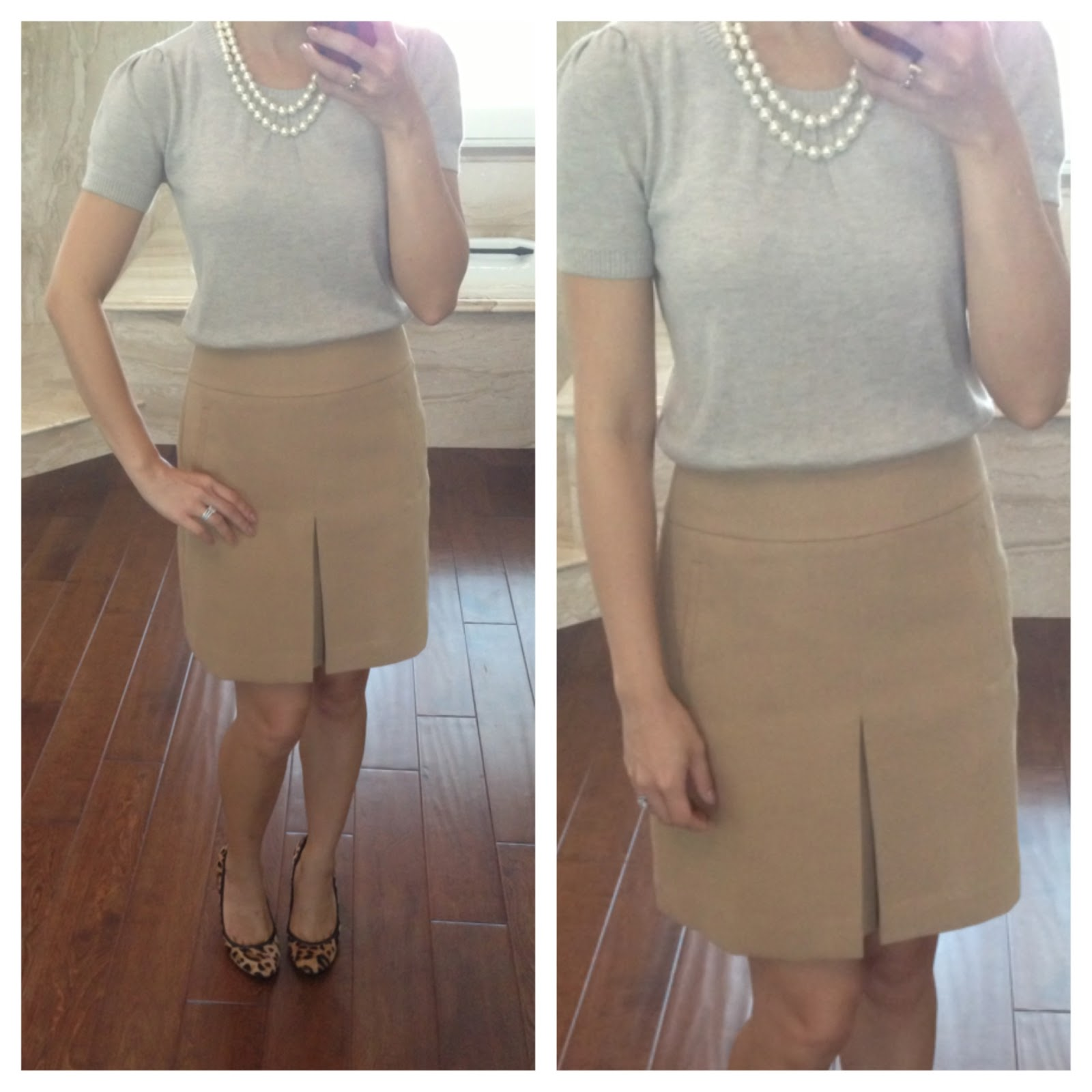 Review: Loft Pleat Front Shift Skirt, Puff Sleeve Sweater ...