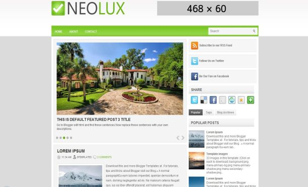 Free simple green nature blogger layout template free business green magazine blogger template wajeb Image collections