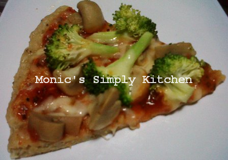 Pizza Oatmeal Topping Jamur & Brokoli