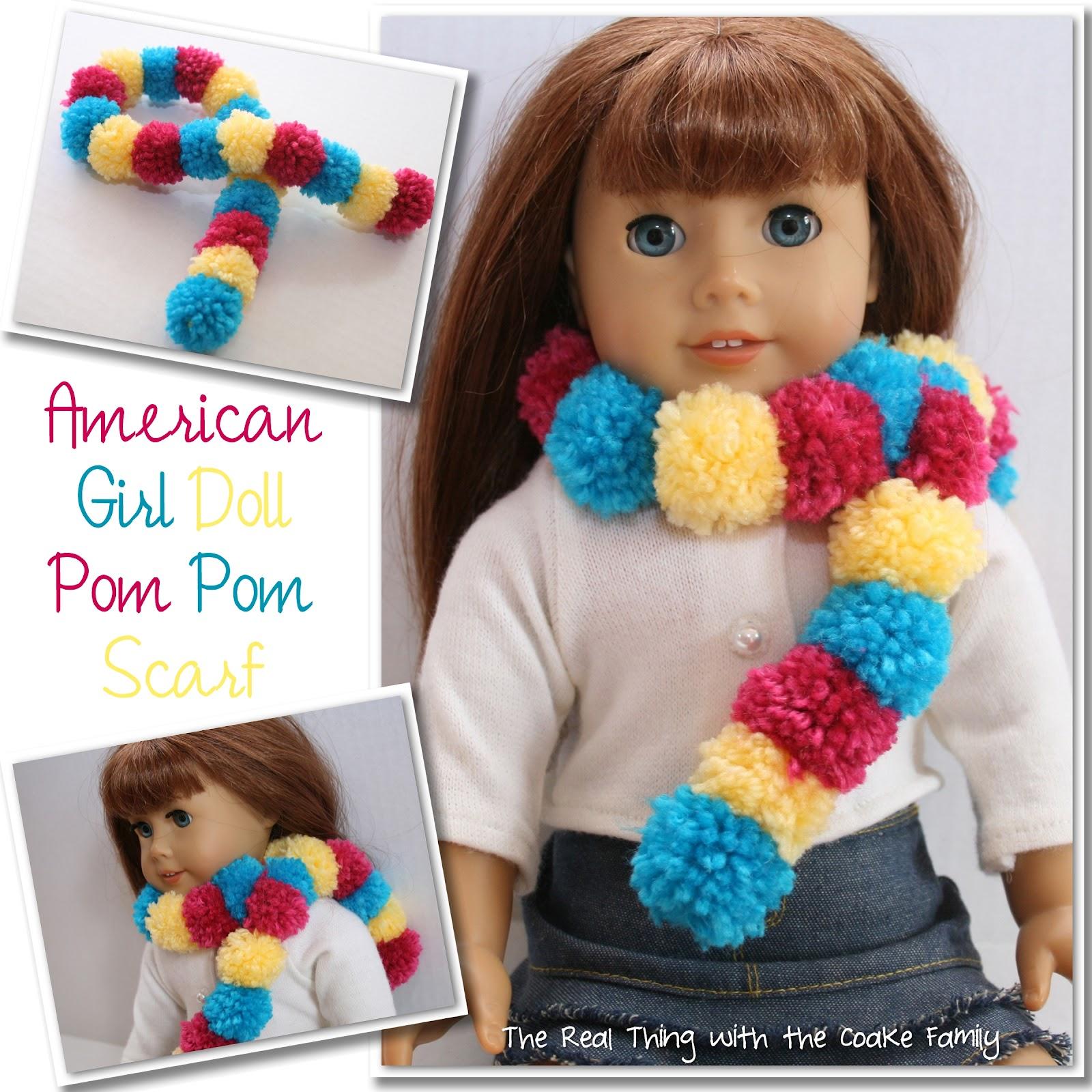 make an adorable american girl doll craft - a pom pom scarf