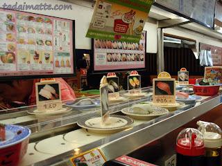 Kura-zushi kaiten-zushi (conveyor belt sushi) restaurant