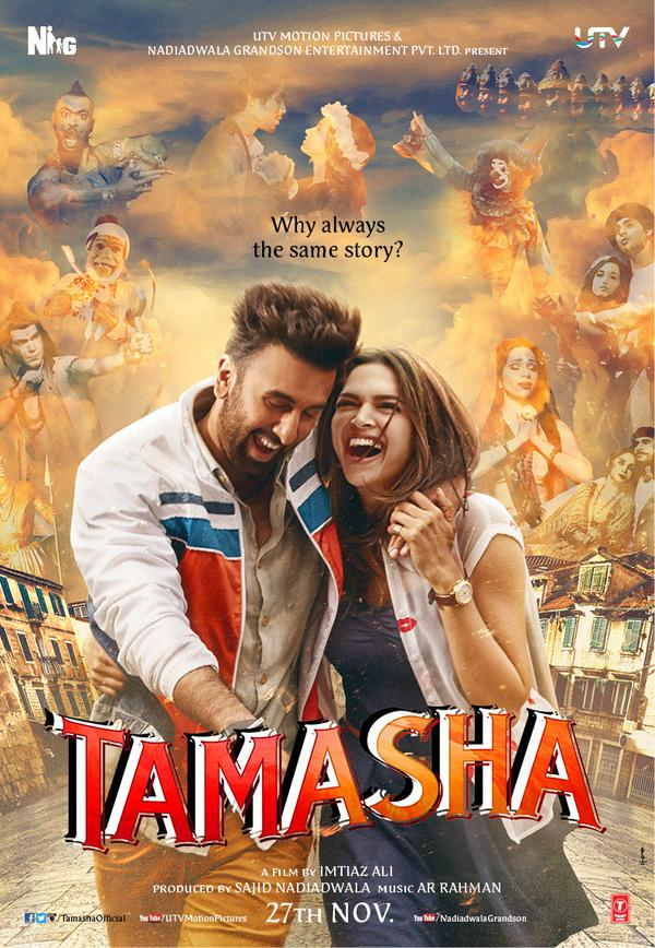 full cast and crew of bollywood movie Tamasha 2015 wiki, Ranbir Kapoor, Deepika Padukone story, release date, Actress name poster, trailer, Photos, Wallapper