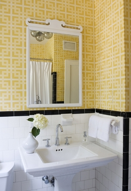 J'adore Decor: Black and Yellow Bathroom