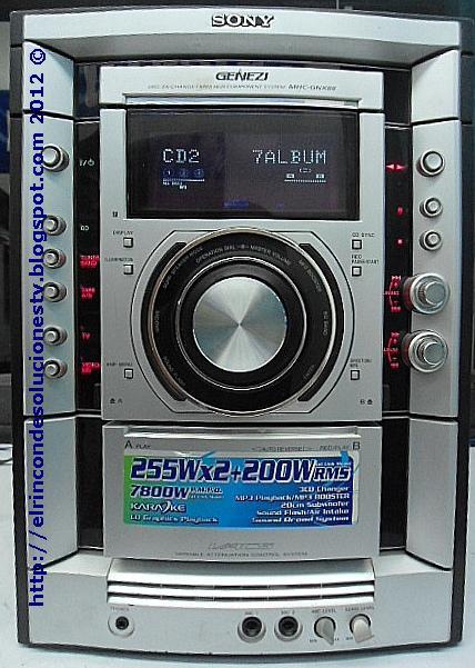 Equipo de audio Sony modelo HCD-GNX88