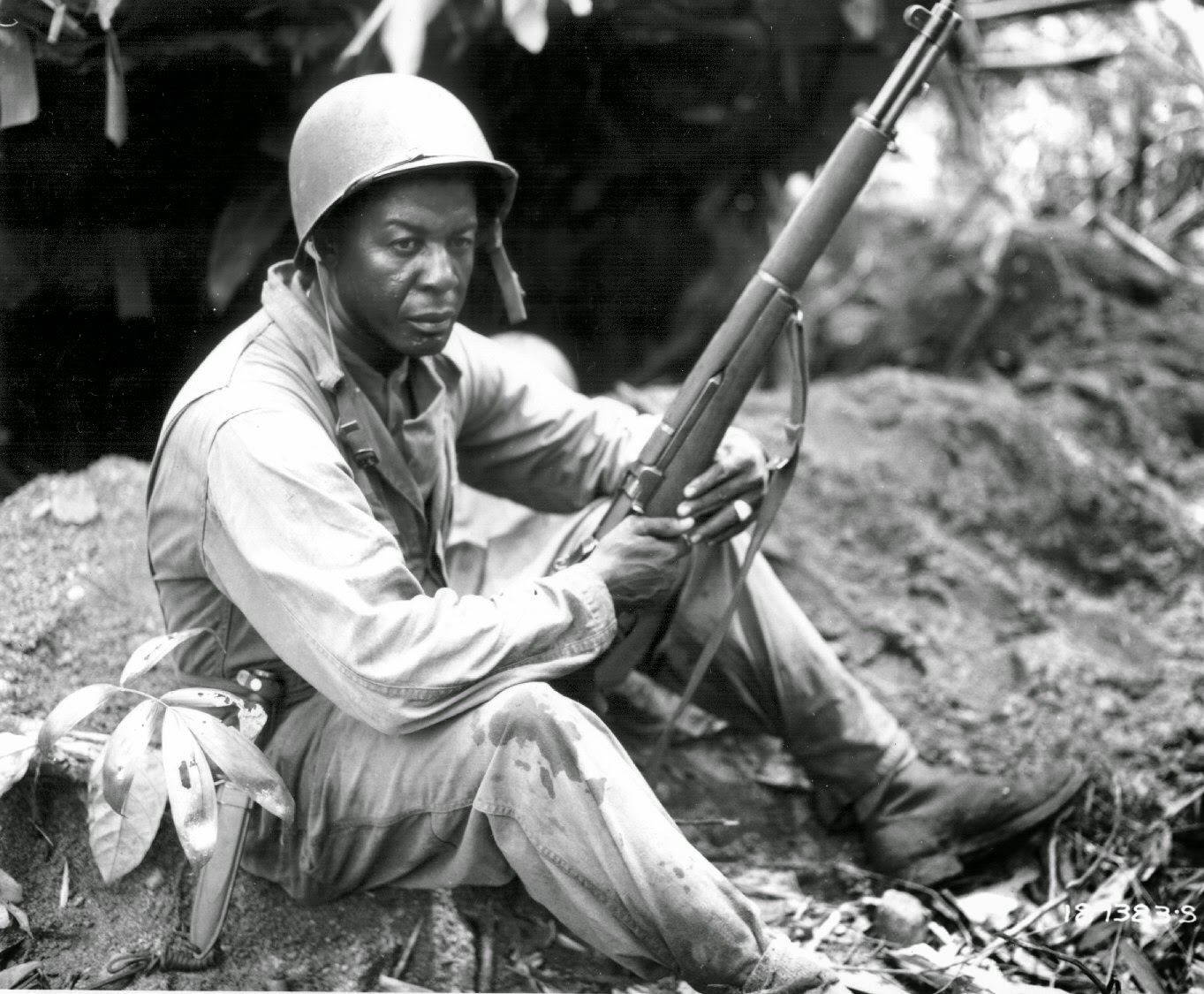 black soldier with m1 garand