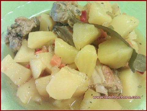 Lambruchona receta costillas de cerdo co - Patatas con costillas de cerdo ...