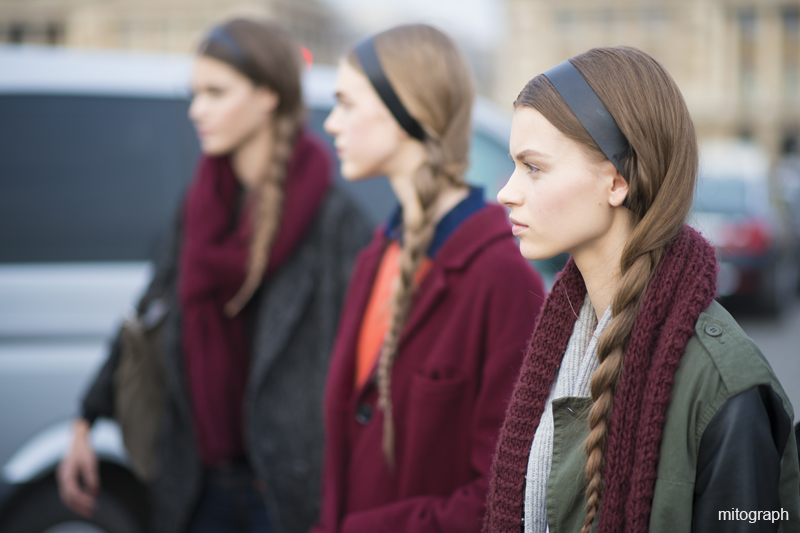 Pauline Hoarau,Hedvig Palm,Erika Labanauskaite After Valentino Paris Fashion Week 2013 Fall Winter PFW