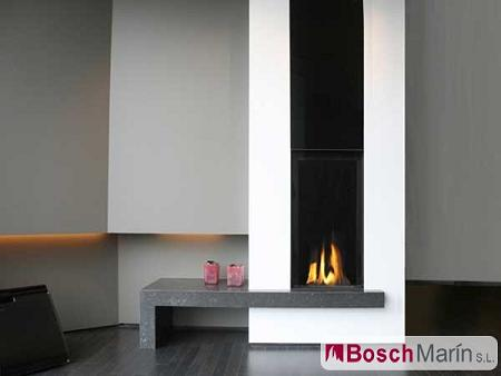 Decoración de interiores: Chimeneas modernas de gas