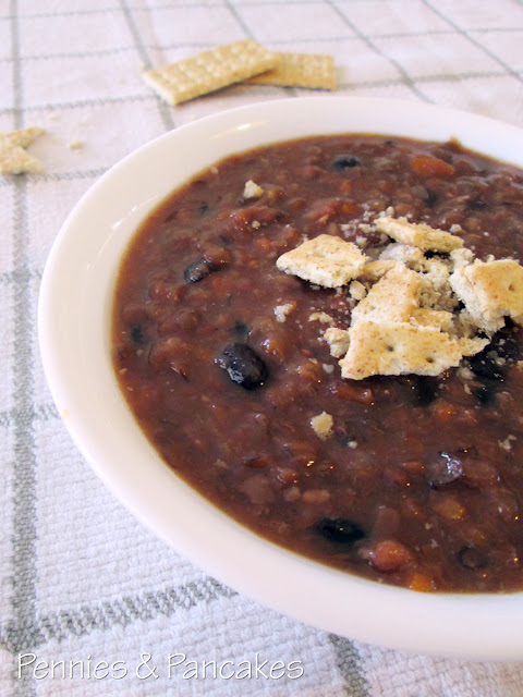 Protein Packed Black Bean and Lentil Soup forecasting