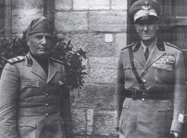 Mussolini and Graziani