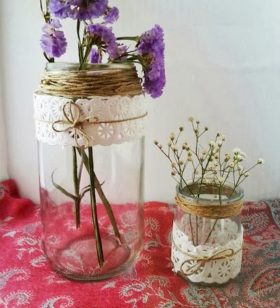 10 ideas para decorar botellas y frascos de for Reciclar botes de cristal decoracion