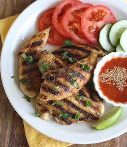 thai grilled chicken with sweet chili dipping sauce recipe
